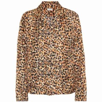 ドリス ヴァン ノッテン Dries Van Noten レディース ブラウス・シャツ トップス Leopard-printed silk shirt Black