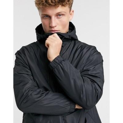 ブレーブソウル メンズ ジャケット&ブルゾン アウター Brave Soul trench jacket in black Black