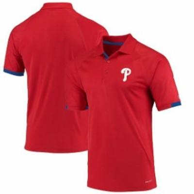 Majestic マジェスティック スポーツ用品  Majestic Philadelphia Phillies Red Outburst Polo