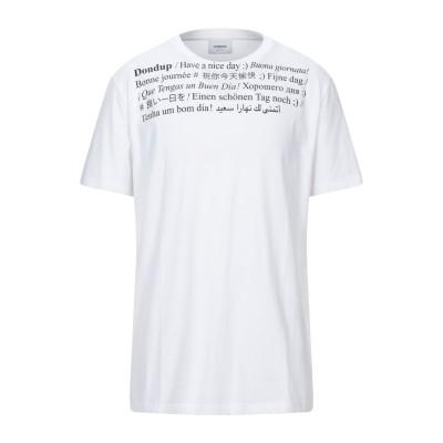 ドンダップ DONDUP T シャツ ホワイト L コットン 100% T シャツ