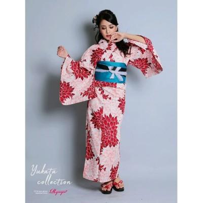 【リューユ】 赤 キャバ浴衣 浴衣 牡丹柄 レディース浴衣 レディース レッド フリーサイズ Rew-You