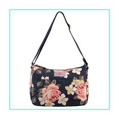 Cath Kidston Matt Oilcloth The All Day Bag Shoulder Handbag Richmond Rose Pattern Dark Navy Color並行輸入品