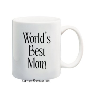 World 's Best Mom???11または15オンスマグ。Happy Mothers Day 。By BeeGeeTees 11 oz 001