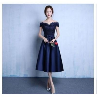 ウェディングドレス★カラードレス★ミニドレス★イブニングドレス★紺★フォーマル