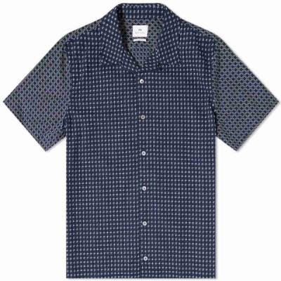 ポールスミス Paul Smith メンズ シャツ トップス Jacquard Vacation Shirt Navy
