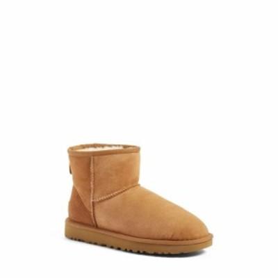 アグ UGG レディース ブーツ シアリング シューズ・靴 Classic Mini II Genuine Shearling Lined Boot Chestnut Suede
