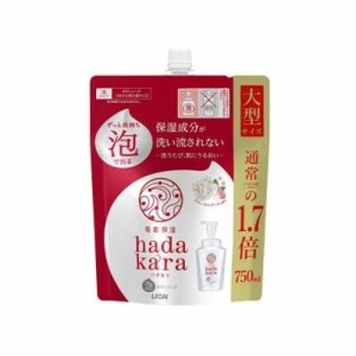 hadakara ボディソープ 泡で出てくるタイプ フローラルブーケの香り 詰替用 750ml  4903301291954