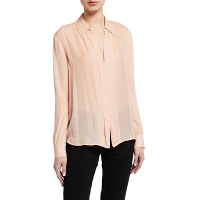 セブンフォーオールマンカインド レディース シャツ トップス Minimal Placket Long-Sleeve Shirt