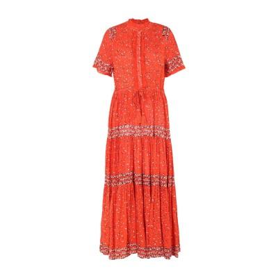 FREE PEOPLE ロングワンピース&ドレス オレンジ XS レーヨン 100% ロングワンピース&ドレス