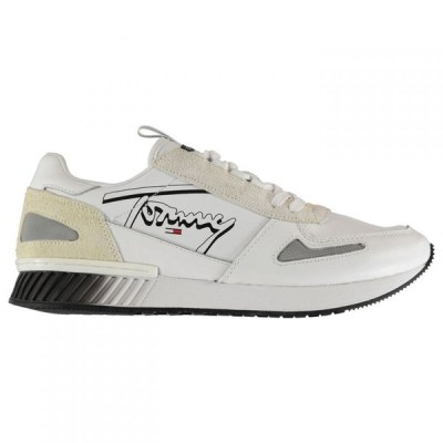 トミー ジーンズ Tommy Jeans メンズ スニーカー シューズ・靴 Elliot Signature Runner Trainers White