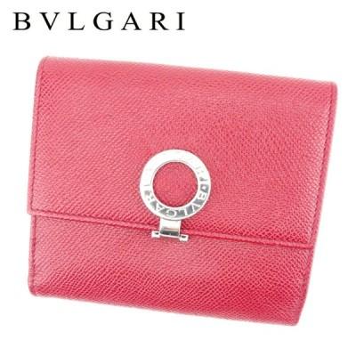 ブルガリ 二つ折り 財布 Wホック ブルガリブルガリ BVLGARI 中古