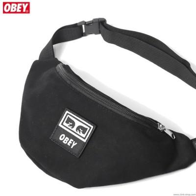 オベイ OBEY WASTED HIP BAG (BLACK TWILL) メンズ バック ウエストバック