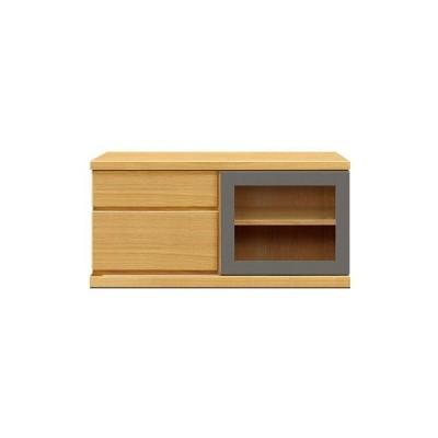 ふるさと納税 大川市 天然木材家具アーザ(ローボード テレビ台・TVボード)100cm レッドオーク