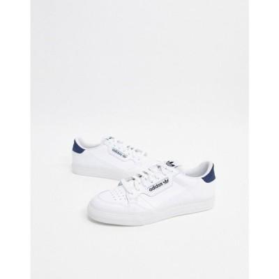 アディダス adidas Originals メンズ スニーカー シューズ・靴 Continental Vulc Leather Trainers White ホワイト