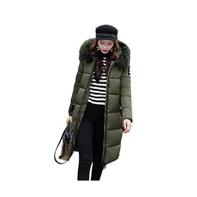 EASONDDD ダウンコート レディース ダウンジャケット 中綿コート 冬 アウター ファー フード ロング コート 着痩