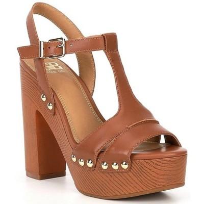 ジービー レディース サンダル シューズ Gb En-Hanced Leather Wood Heel Platform Sandals