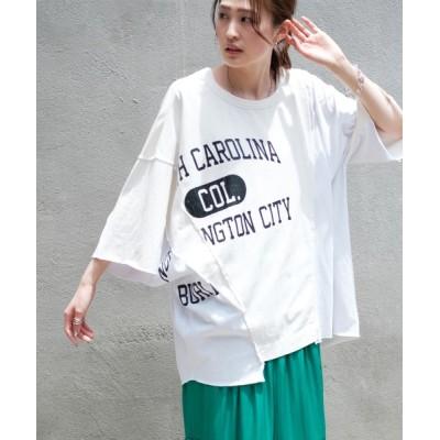 CIAOPANIC TYPY / 【etsinta/エシンタ】カレッジMIX切替tee WOMEN トップス > Tシャツ/カットソー