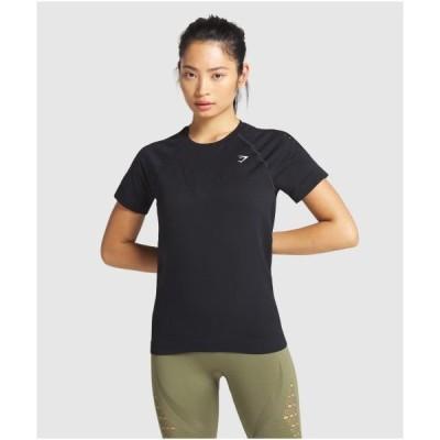 ジムシャーク レディース Tシャツ 半袖 ラグランスリーブ ジムシャーク  エナジー シームレスTシャツ GYMSHARK フィジーク レディース