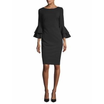 カルバンクライン レディース ワンピース Tiered Bell-Sleeve Sheath Dress