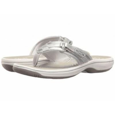 Clarks クラークス レディース 女性用 シューズ 靴 サンダル Breeze Sea Silver Metallic【送料無料】