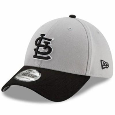 New Era ニュー エラ スポーツ用品  New Era St. Louis Cardinals Gray/Black Team Classic 39THIRTY Flex Hat