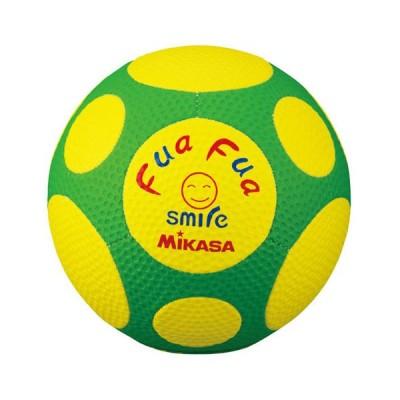 ミカサ サッカーボール 4号球 MIKASA ふぁふぁスマイルサッカー(イエロー/ グリーン) FFF4-YG 返品種別A