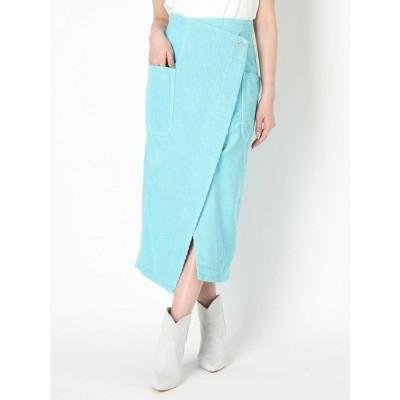 MERCURYDUO 【Lee×MERCURYDUO】コーデュロイタイトスカート(ブルー)