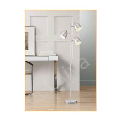 Aaron Modern Retro Floor Lamp 3-Light Tree Brushed Nickel Swivel Heads for Living Room Reading Bedroom Office - 360 Lighting並行輸入品