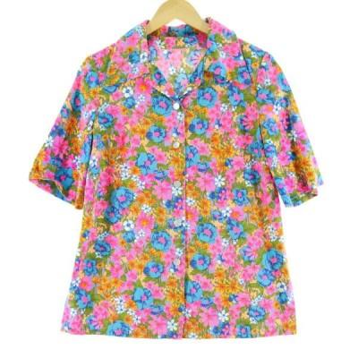 70年代 半袖 オープンカラーシャツ レディースS /eaa062442