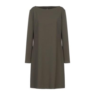 F.IT ミニワンピース&ドレス ミリタリーグリーン 48 ポリエステル 95% / ポリウレタン 5% ミニワンピース&ドレス