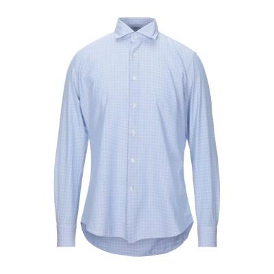 グランシャツ GLANSHIRT シャツ ブルーグレー 38 コットン 100% シャツ