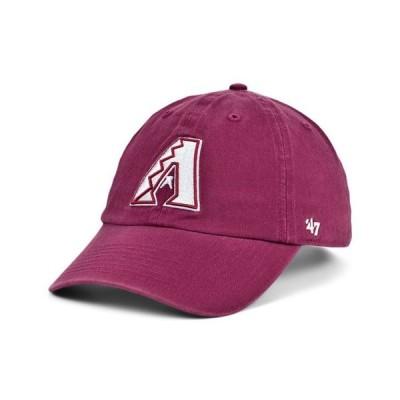 47ブランド レディース 帽子 アクセサリー Arizona Diamondbacks Cardinal and White CLEAN UP Cap