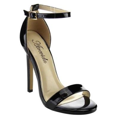 ヒール パンプス シューズ 靴 海外厳選ブランド ATREVIDA レディース アジャスタブル アンクルストラップ ドレス ハイヒール KALILA-06 BLACK