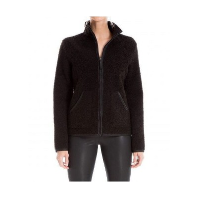 MAXSTUDIO レディース 女性用 ファッション アウター ジャケット コート Front Zip Jacket - Black