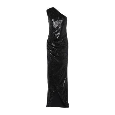 スペース SPACE SIMONA CORSELLINI ロングワンピース&ドレス ブラック 40 ポリエステル 85% / ナイロン 15% ロン