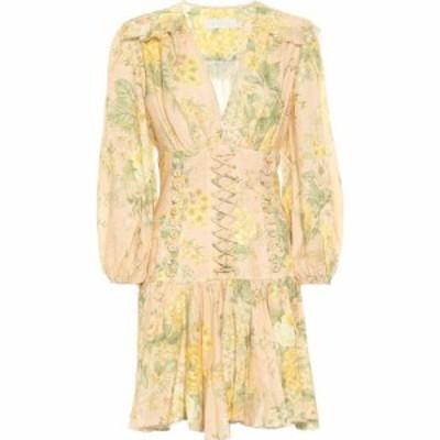 ジマーマン Zimmermann レディース ワンピース ワンピース・ドレス amelie floral linen minidress Peach Floral