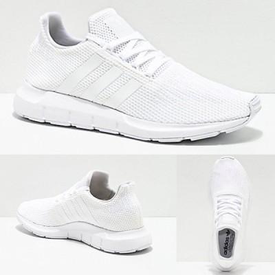 Adidas/アディダス adidas スニーカー メンズ ホワイト Mens Swift Run All White Shoes