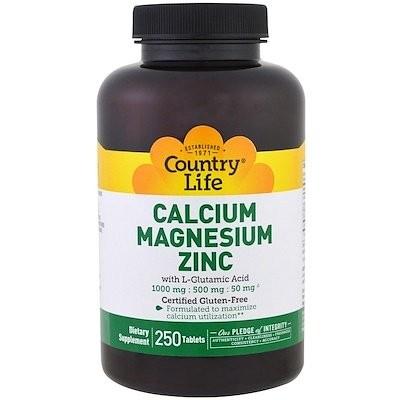 カルシウムマグネシウム亜鉛, 250錠
