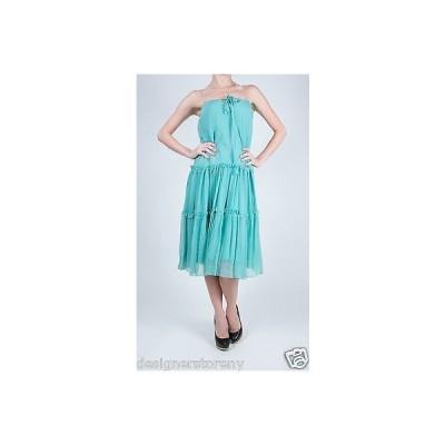 ドレス 海外セレクション DvF Diane von Furstenberg Kingston Skirt Dress in Aqua size 2