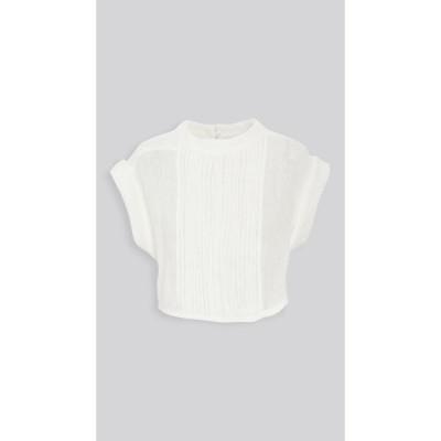 ルカシャ Le Kasha レディース ブラウス・シャツ トップス Zifta Linen Pleat Front Blouse White