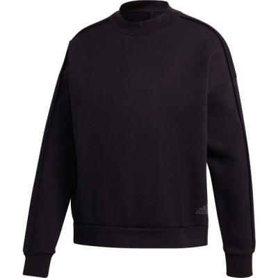 アディダス パーカー・スウェットシャツ アウター レディース adidas Women's Shanghai 2 London Crew Sweatshirt Black
