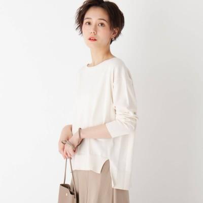 オペーク ドット クリップ OPAQUE.CLIP 【エマール検証済】Lux organic cotton ワイドプルオーバー (オフホワイト)