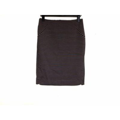 エストネーション ESTNATION スカート サイズ38 M レディース ダークネイビー×ライトブラウン ボーダー【中古】