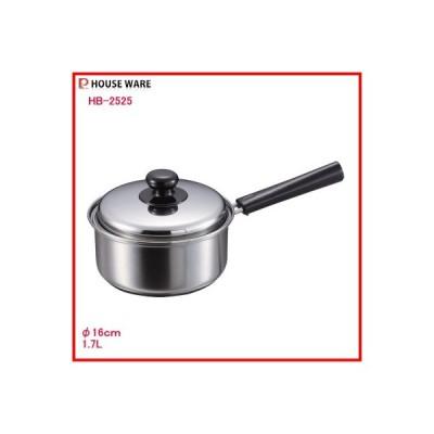 パール金属:クックパレス3層底蓋付片手鍋16cm/HB-2525