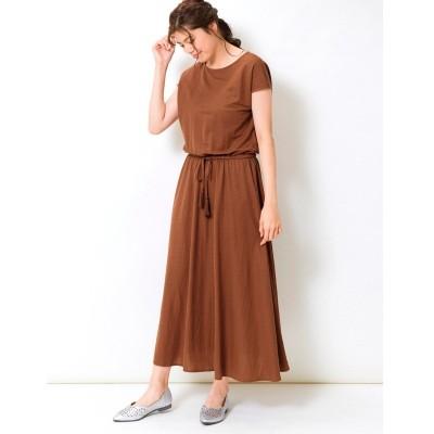 【大きいサイズ】 リネンライクロングワンピース ワンピース, plus size dress