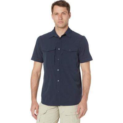 フェールラーベン Fjallraven メンズ 半袖シャツ トップス Abisko Trekking Short Sleeve Shirt Dark Navy