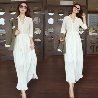 ワンピース ロング シンプル スリム シースルー ドレス #1451