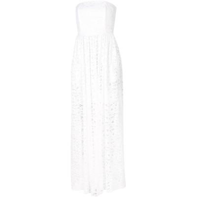 エムエスジーエム MSGM ロングワンピース&ドレス ホワイト 38 レーヨン 90% / ナイロン 10% ロングワンピース&ドレス