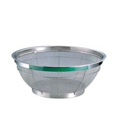 TKG NEWマンモス カラー 浅型ざる 25cm グリーン    [7-0249-0416 6-0249-0416  ]