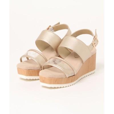 Xti Shoes / 【BCC】 ふわふわウェッジ ダブルベルトサンダル WOMEN シューズ > サンダル